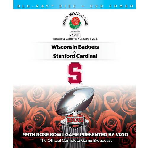 2013 Rose Bowl Presented By Vizio - Stanford Vs. Wisconsin (Blu-ray   DVD)