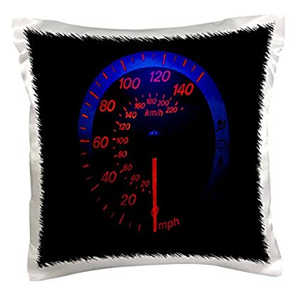 3dRose Auto Speedometer Glows In the Dark, Pillow Case, 16 by 16-inch](Sweet 16 Glow In The Dark Theme)