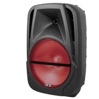 QFX PBXBF12 Portable Battery-Powered 12 inch Party Speaker with Bluetooth/USB/SD/FM
