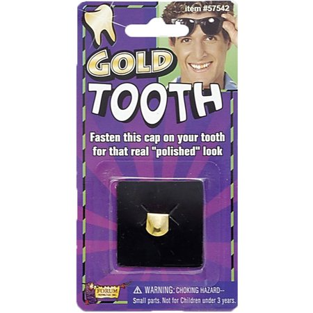 Gold Tooth Cap Carded Halloween Costume Accessory