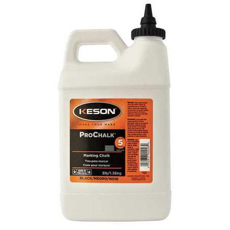 Keson 3 lb.,Marking Chalk, Standard, Black, 103BLACK Black Hole Chalk Bag