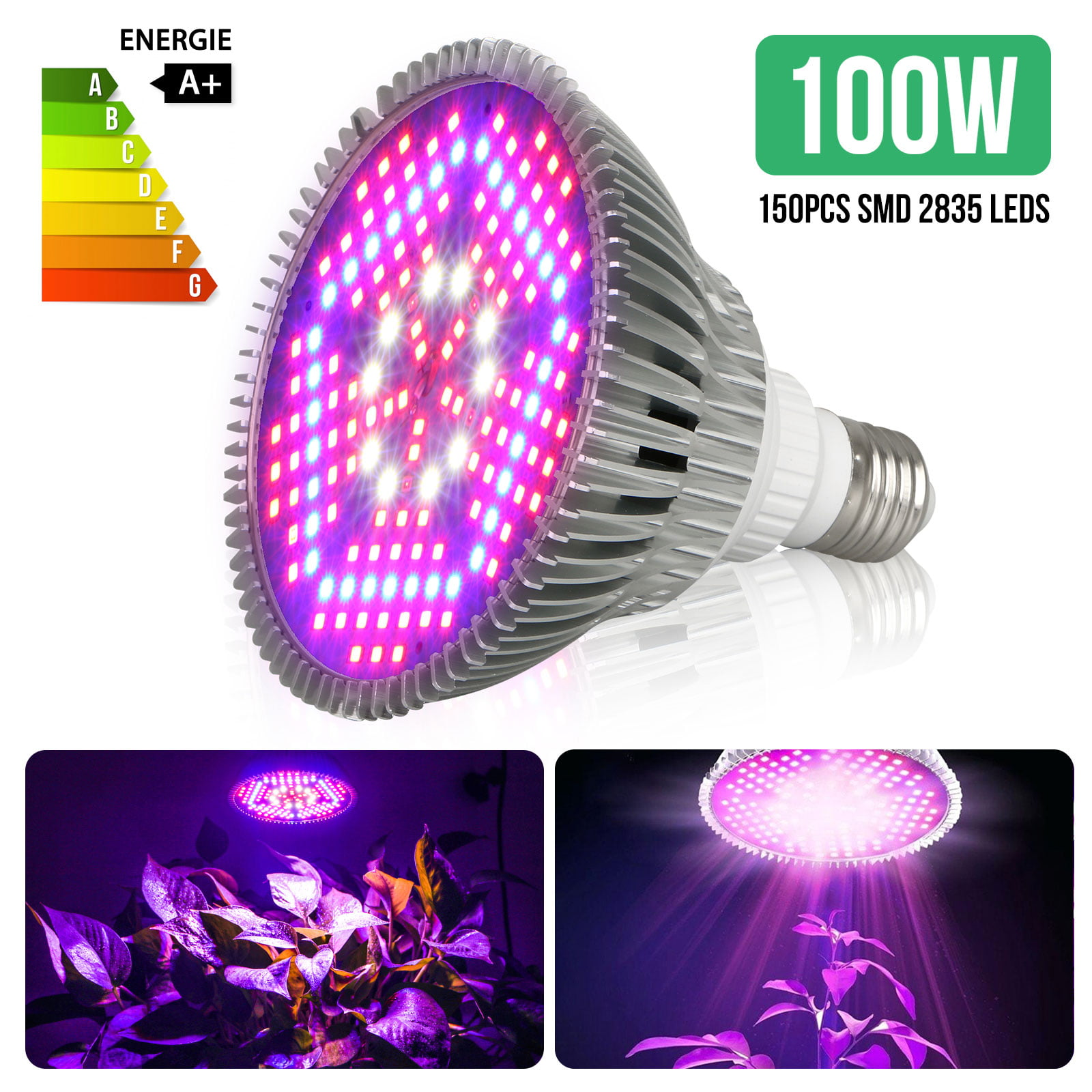 100w E27 Led Grow Light Bulb Plant
