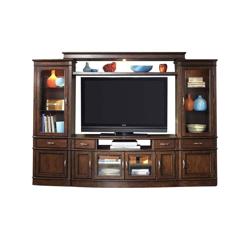 Bowery Hill 3 Piece Entertainment Center in Cherry Spice