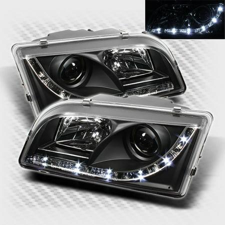 2000 2003 Volvo S40 V40 Drl Led Projector Headlights Black Head Lights Pair Left Right 2001 2002