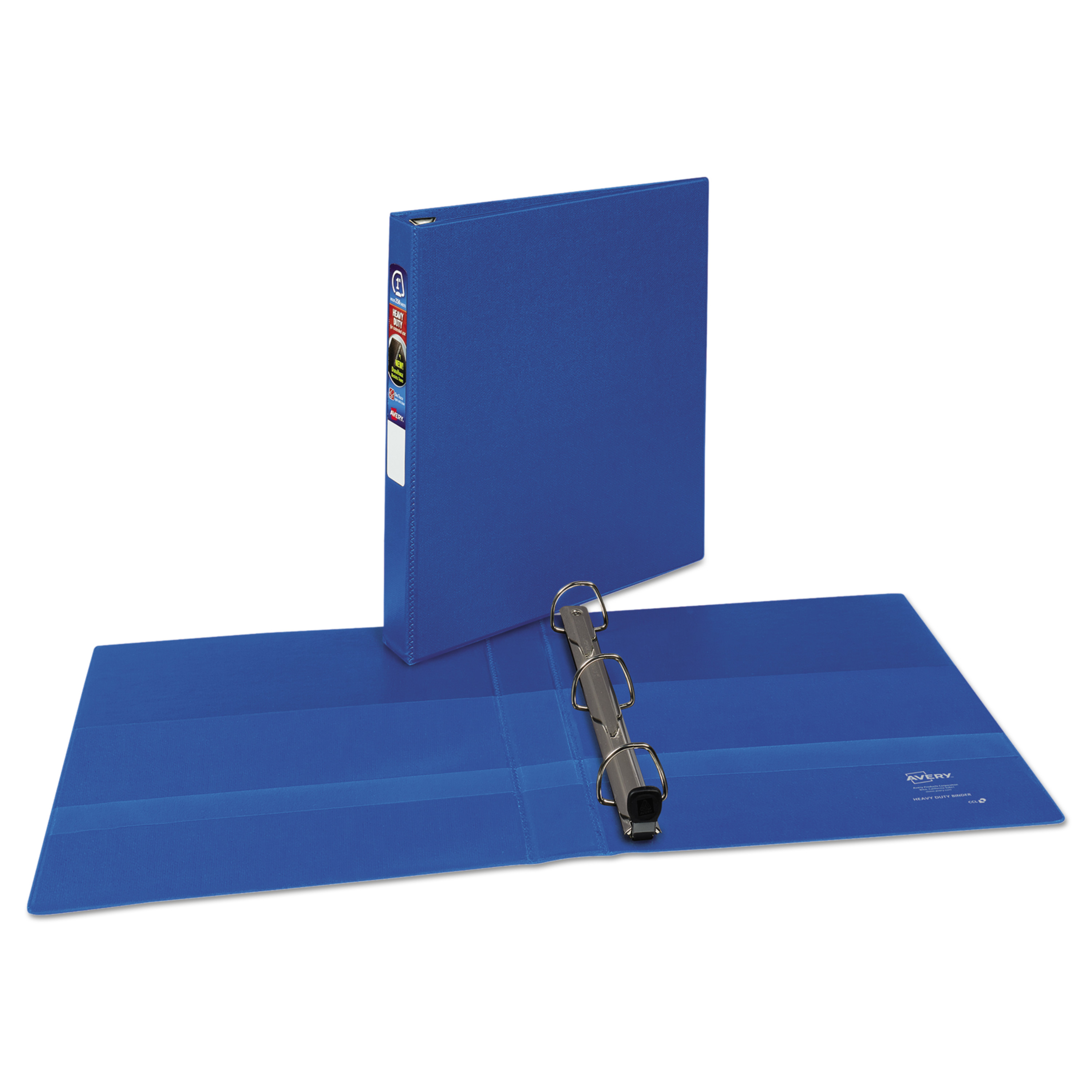 "Avery 1"" Heavy-Duty Binder One-Touch Rings, Blue"