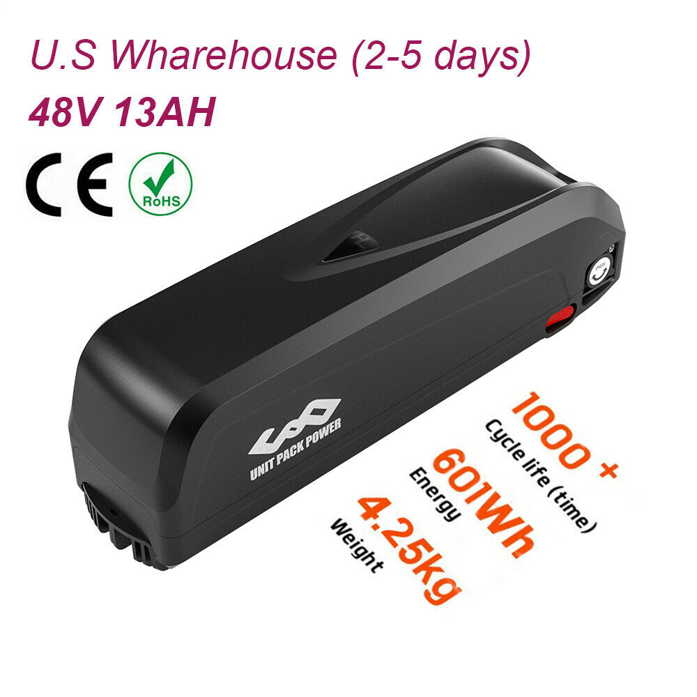 48V 13Ah Hailong Lithium Ebike Battery for 750W 1000W Electric Bicycle Motor