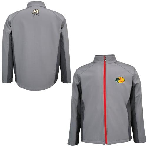 Mens Tony Stewart Chase Authentics Gray Bass Pro Shops Soft Shell Full Zip Jacket by Motorsports Authentics/Action Sports