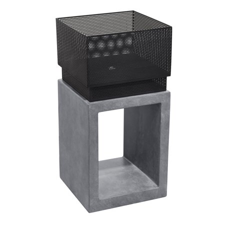 Astella Sentinel Fire Basket in Light Gray Cement - image 1 of 1