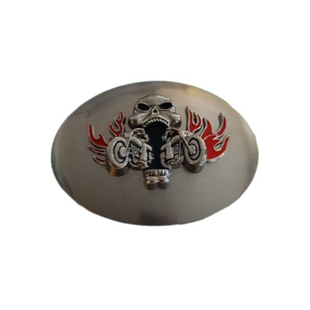 - Flame Skull Collision Design Steel Belt Buckle