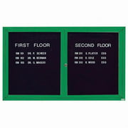 Aarco Products OADC3660IG Illuminated Outdoor Enclosed Directory Cabinet - Green