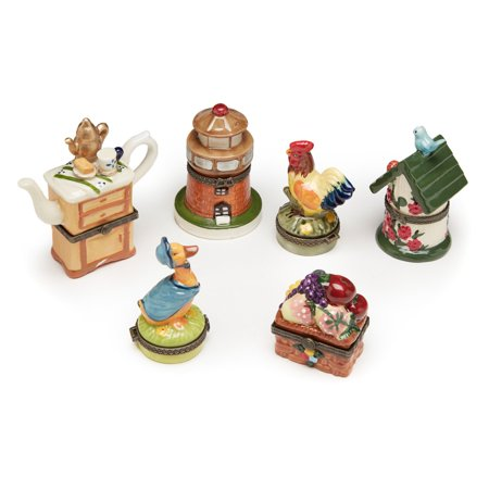 Aa Importing Country Themed Trinket Box   Set Of 6