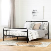 South Shore Plenny Metal Complete Bed , Black