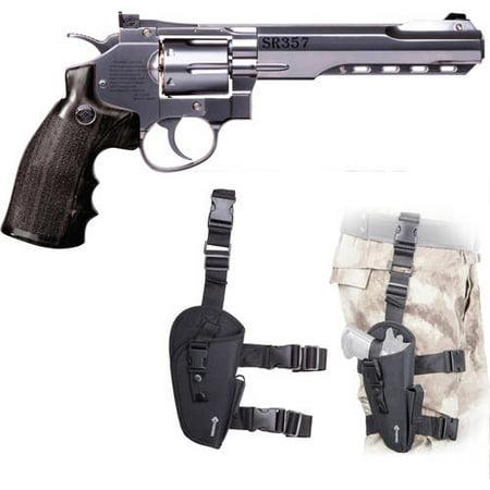 Crosman SR357 Full Metal Revolver.177 Caliber Air Pistol and Leg Holster