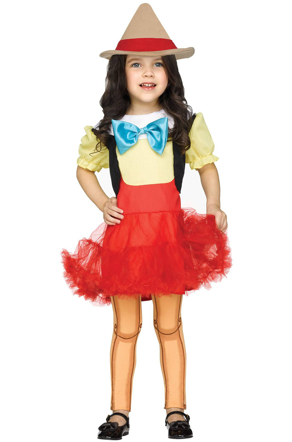pinocchio girl doll toddler halloween costume - walmart