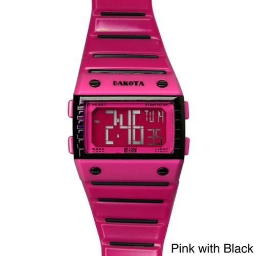 Dakota Dual Color Digital Sports Watch Pink with Black
