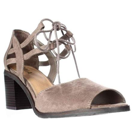 Womens Heel Lace Luella Taupe Block Sandals Up TlFK3Jc1