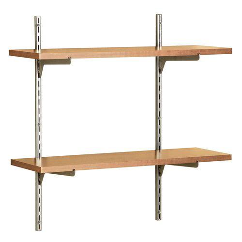 ClosetMaid 2pc Single Slot Shelf Kit, Alder  818200