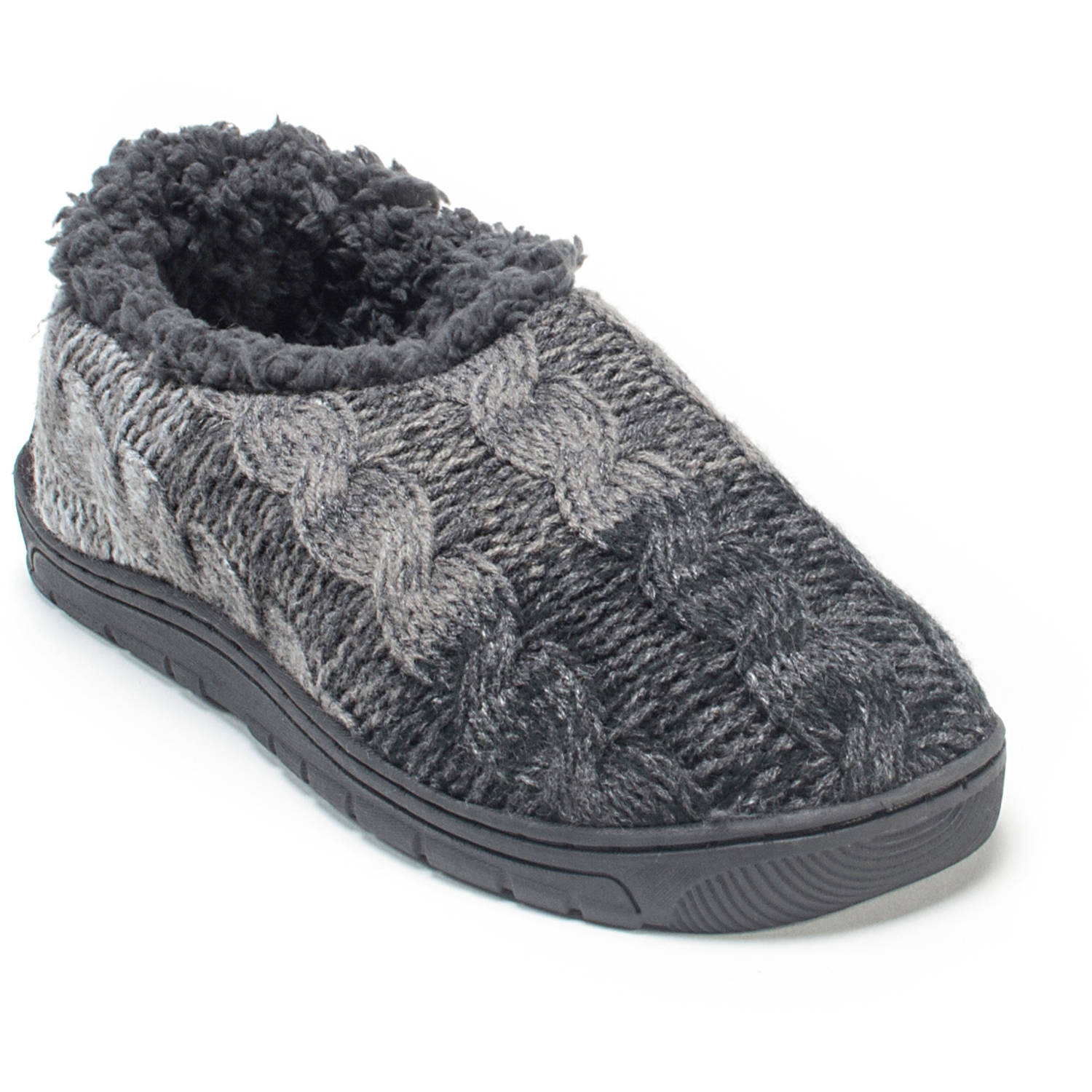 Muk Luks John Men's Clog Knit Sweater Slippers House Shoes