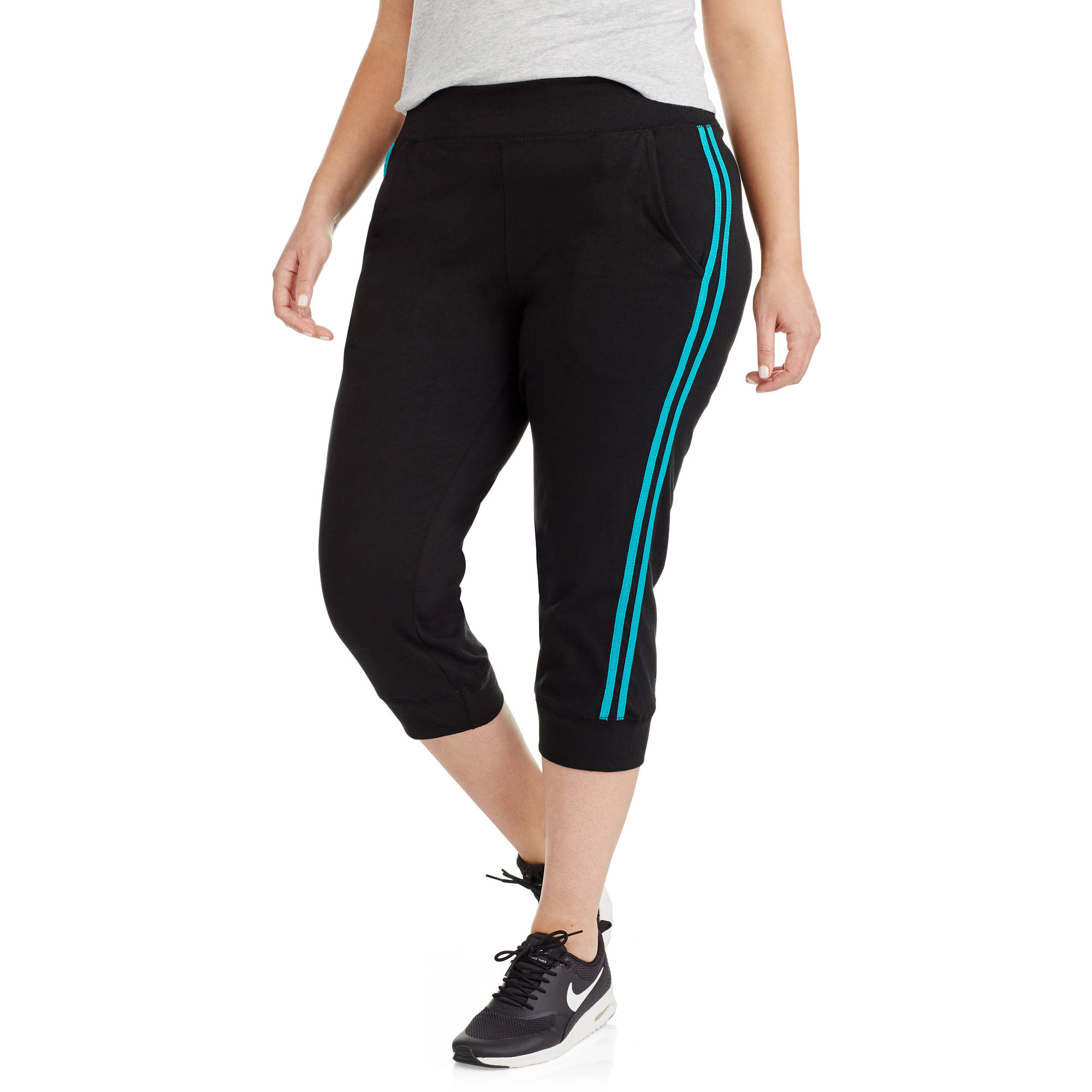 Women's Plus Capri Stripe Jogger