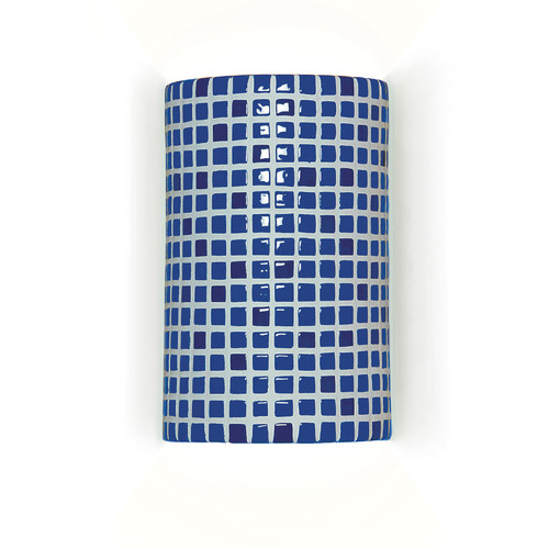 A19 Mosaic Confetti 1-Light Wall Sconce