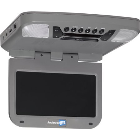"""Audiovox AVXMTG9P 9"""" LED Overhead In-Car Entertainment System with Built-In DVD Player, Pewter by"""