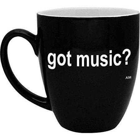 aim got music? black and white bistro coffee - White Bistro Mug