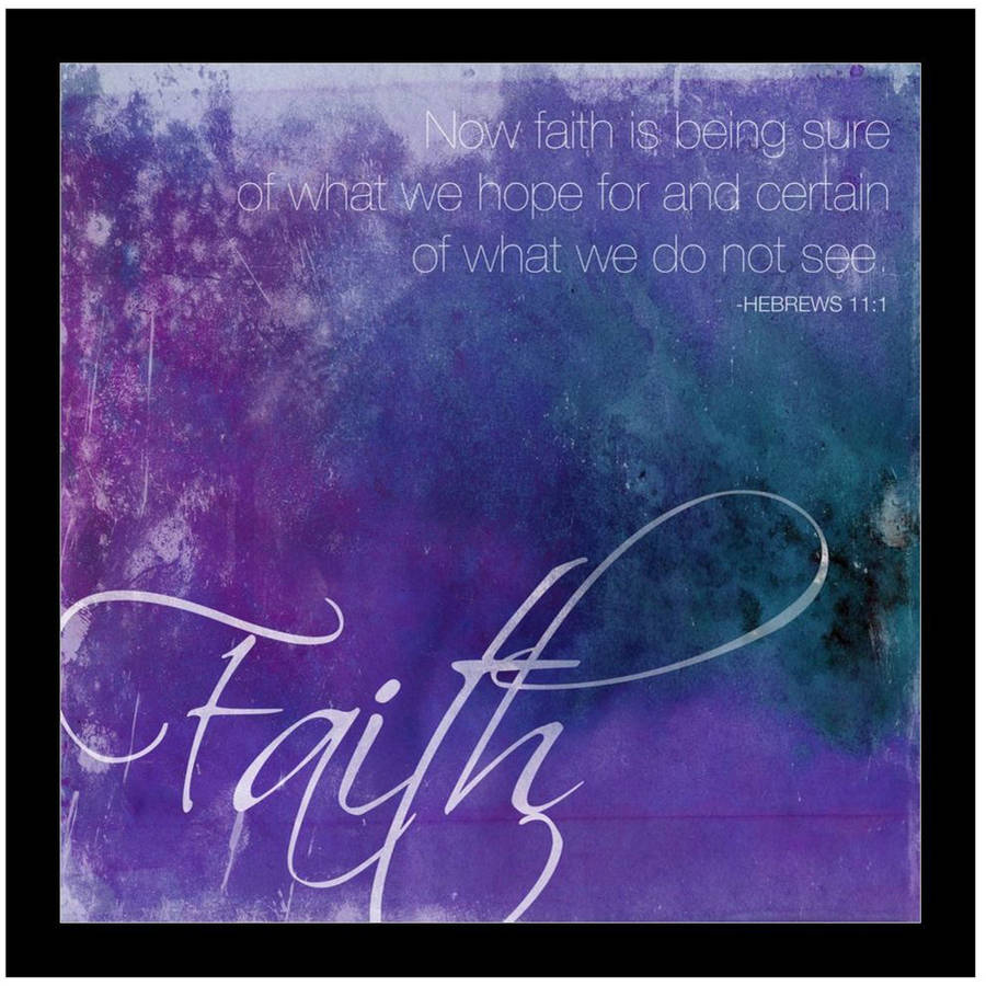 Watercolor Faith by Eazl Black Metallic Image Box