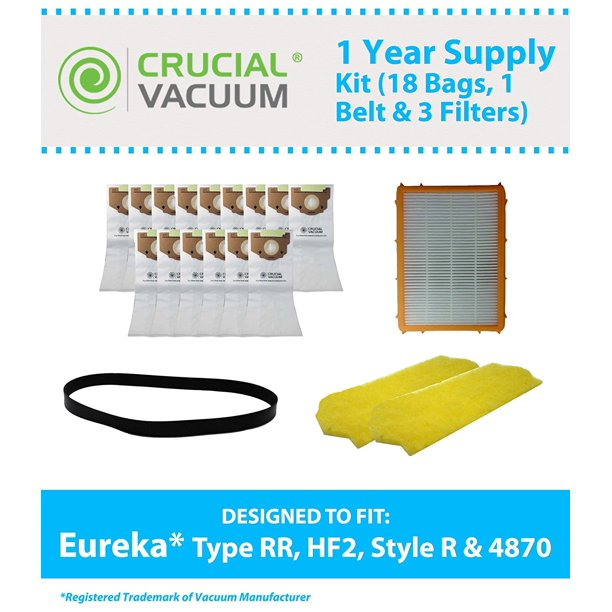Bags Belts Pre Post Motor Filters For Eureka 4870 Smart Vac Upright Vacuums Compare To Eureka Part Nos 61110 61111 61115 Designed Engineered By Think Crucial By Crucial Vacuum Walmart Com Walmart Com