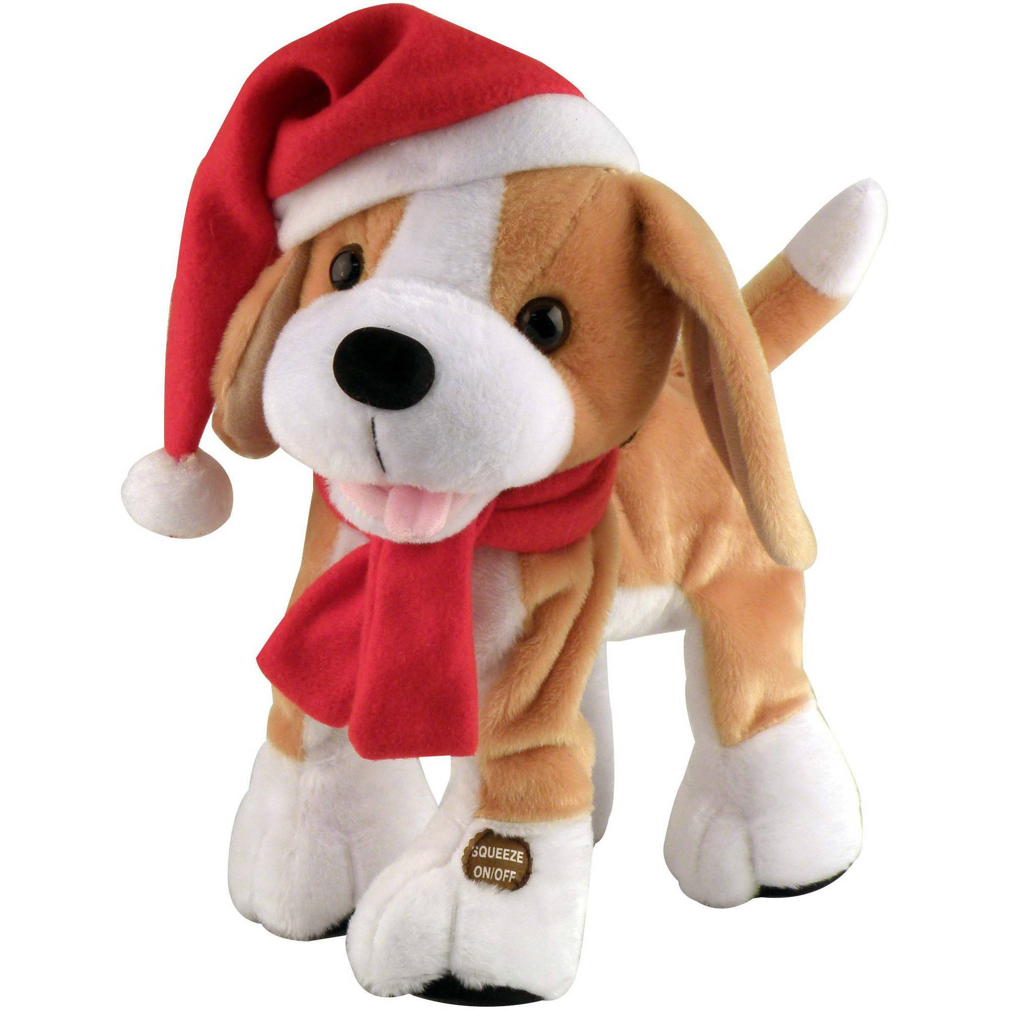 Chantilly Lane Barney the Christmas Beagle, Brown and White ...
