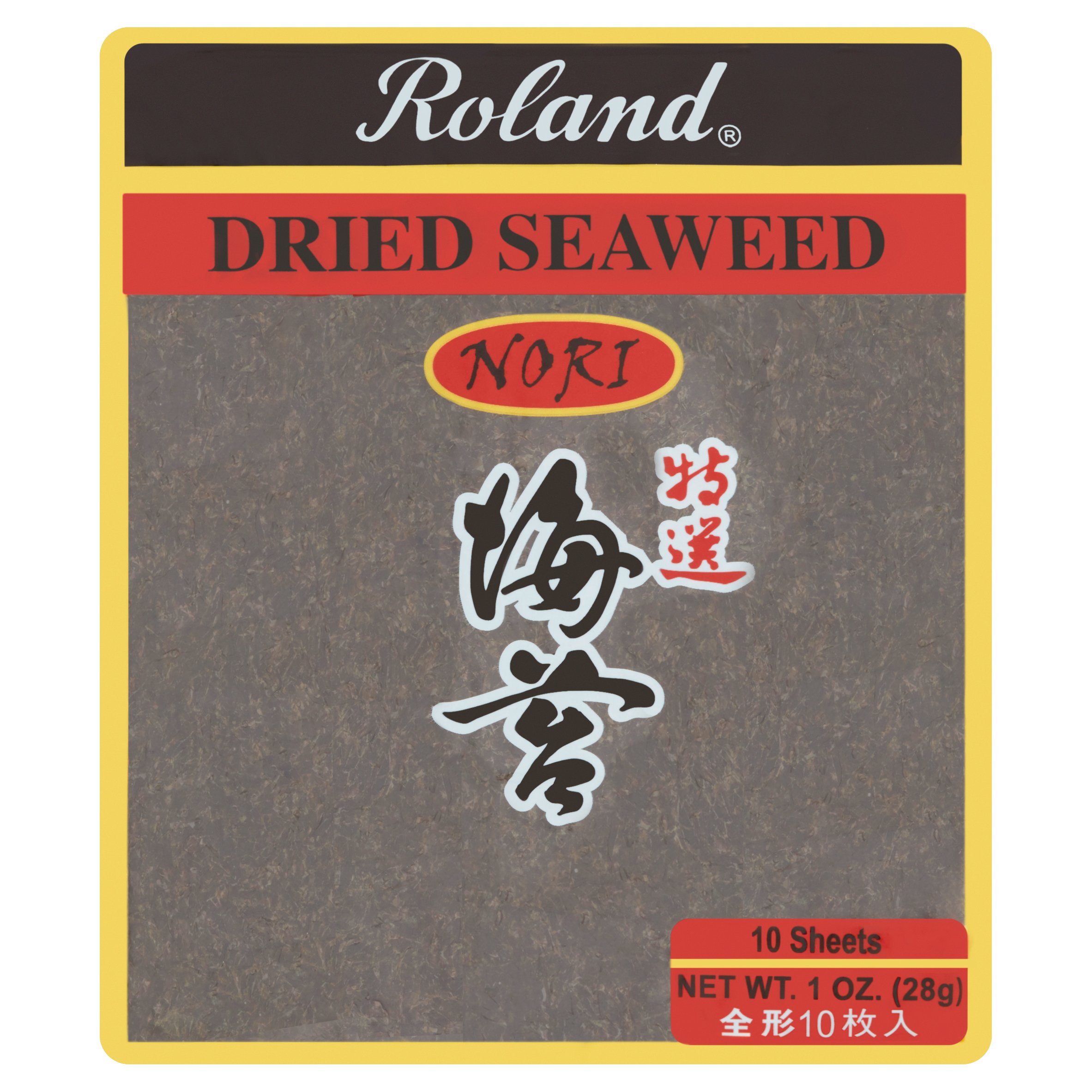 (2 Pack) Roland Nori Dried Seaweed Sheets, 10 count, 1 oz