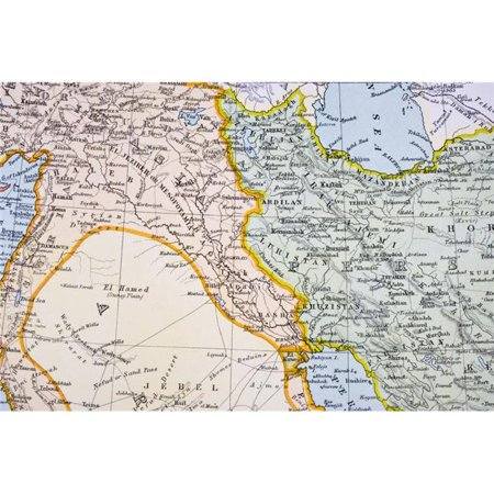 Posterazzi DPI1862657 Partial Map of Turkey Kurdistan Iraq Persia Middle East In 1890S From the Citizens Atlas of the World Published London Poster Print, 18 x 12 ()