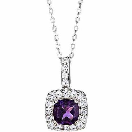 Amethyst And Created White Sapphire Ster (Ster Clasp)