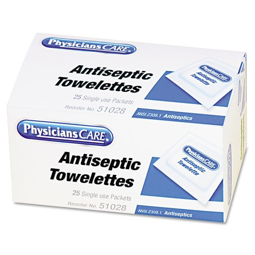 PhysiciansCare Antiseptic Towelettes, 25 count