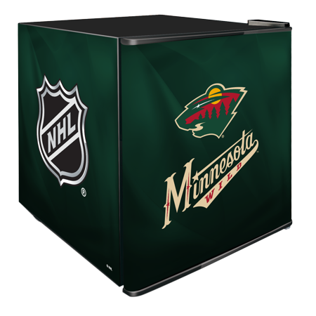 NHL Solid Door Refrigerated Beverage Center 1.8 cu ft- Minnesota Wild by