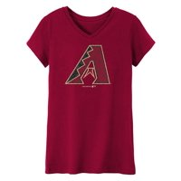 MLB Arizona Diamond Backs TEE Short Sleeve Girls 50% Cotton 50% Polyester Team Color 7 - 16