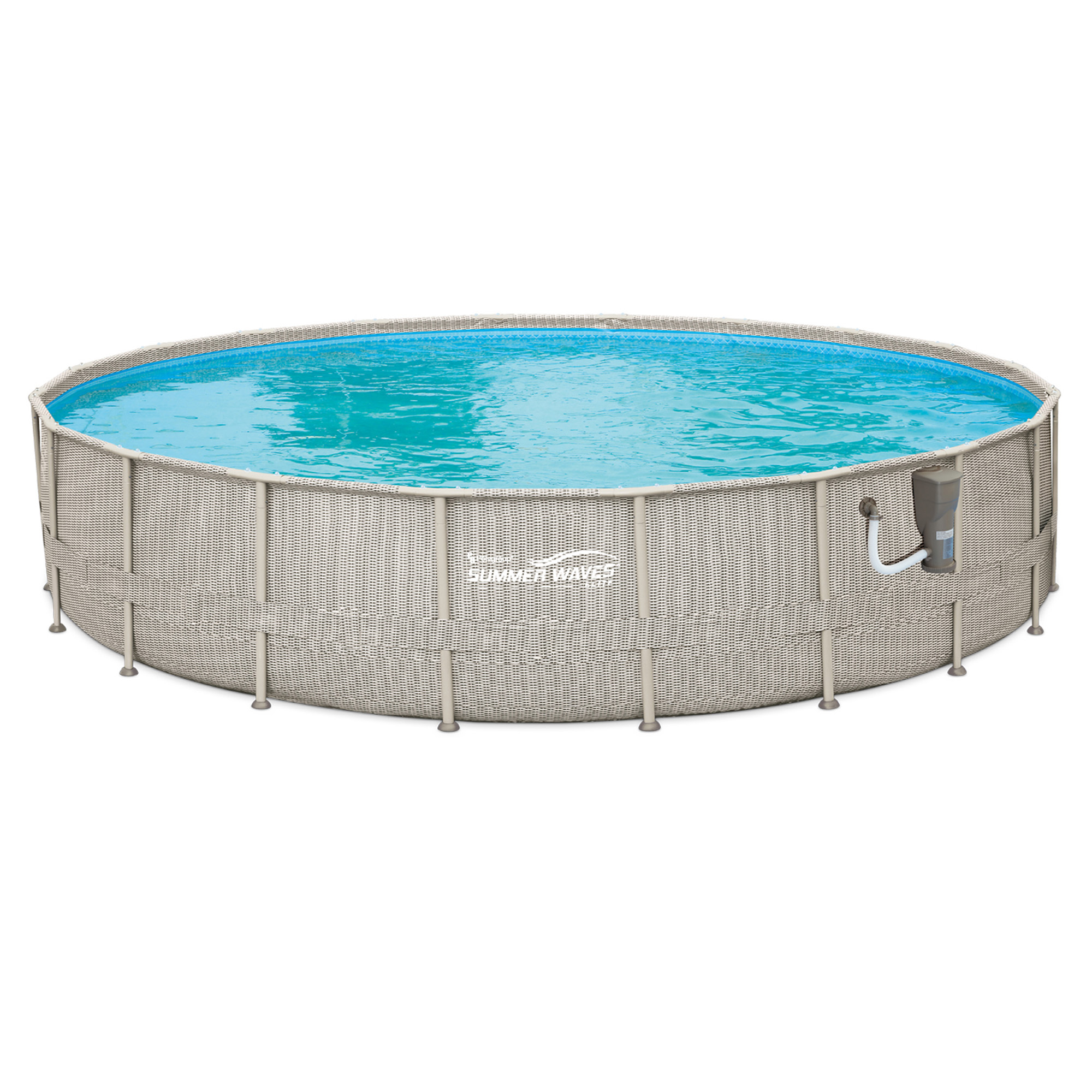 "Summer Waves 20' x 48"" Above Ground Backyard Swimming Pool Set w  Ladder & Cover by Summer Waves"