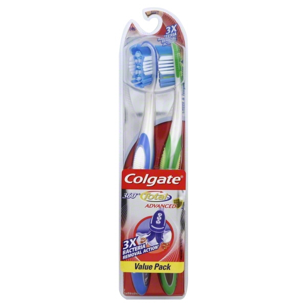 Colgate Total 360 Adult Soft Manual Toothbrush - 2 Count