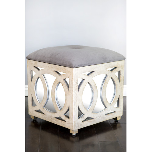 Statements by J Tyra Mirrored Storage Ottoman