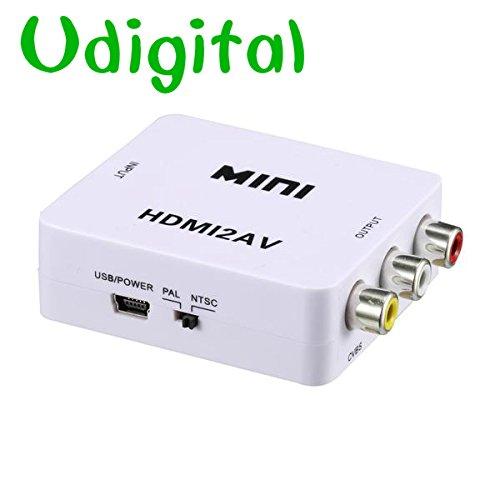Udigital mini HDMI to 3RCA/AV/CVBs Composite Video Audio ...