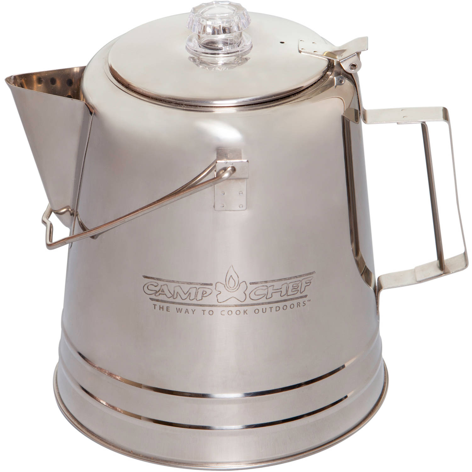 Camp Chef 28 Cup Stainless Steel 2 Piece Percolator Coffee Pot