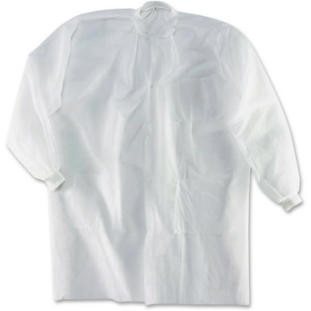 Impact Products IMPM1735KCL PolyLite Labcoats 30 Carton White