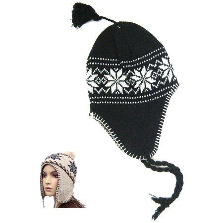 2c2e9e1b228 Peruvian Beanie Knit Winter Warm Hat Cap Snowboard Ski Earflap Men Women  Unisex - Walmart.com