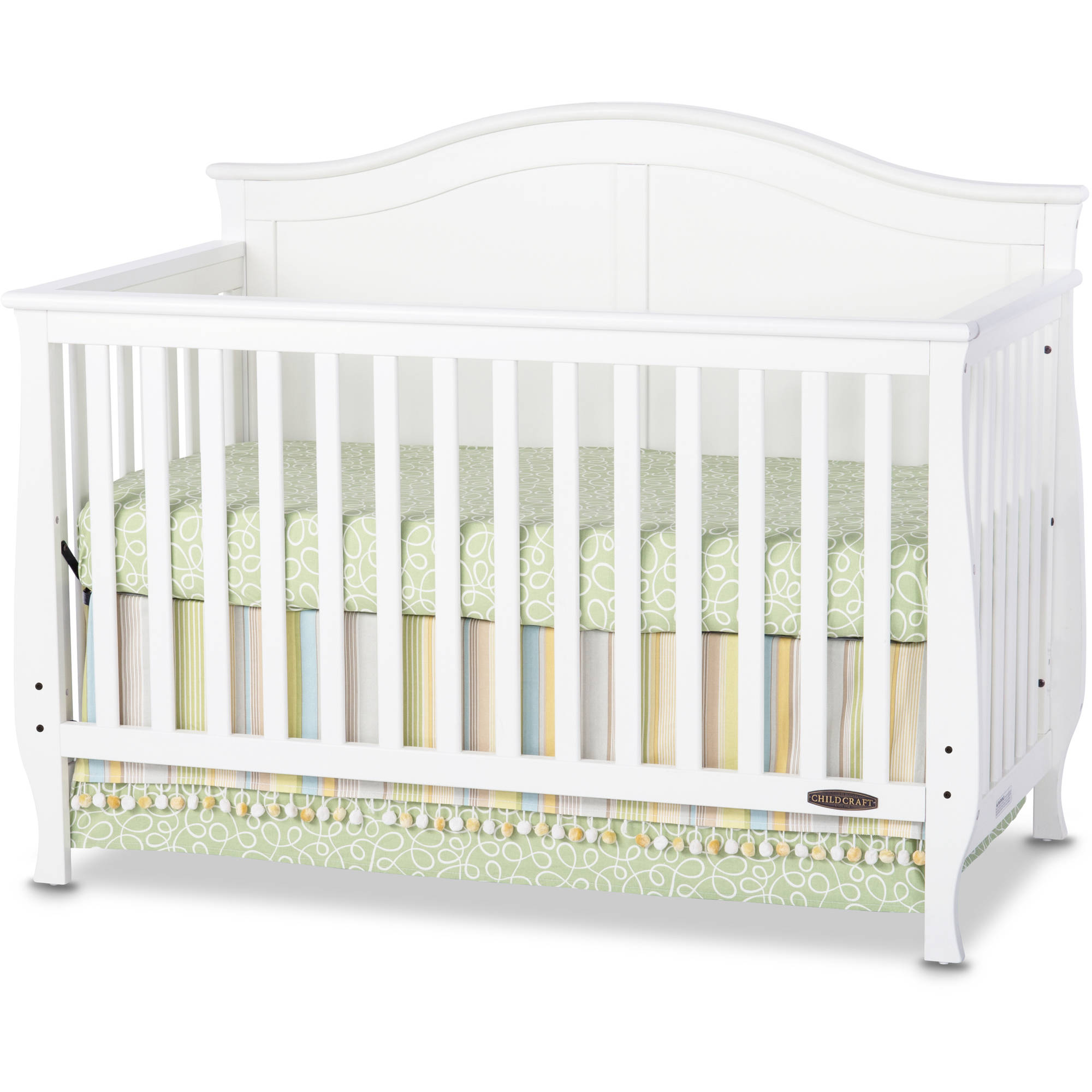 Child Craft Camden 4-in-1 Lifetime Convertible Fixed-Side Crib, Matte White