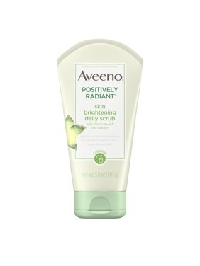 Aveeno Positively Radiant Scrub Face Scrub, All Skin Types, Non-Comedogenic, 5 oz