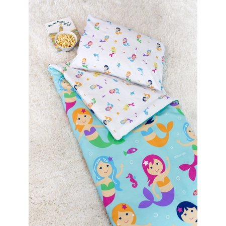 Olive Kids Mermaids Microfiber Sleeping Bag w/ Pillowcase](Sleeping Bag Pillow)