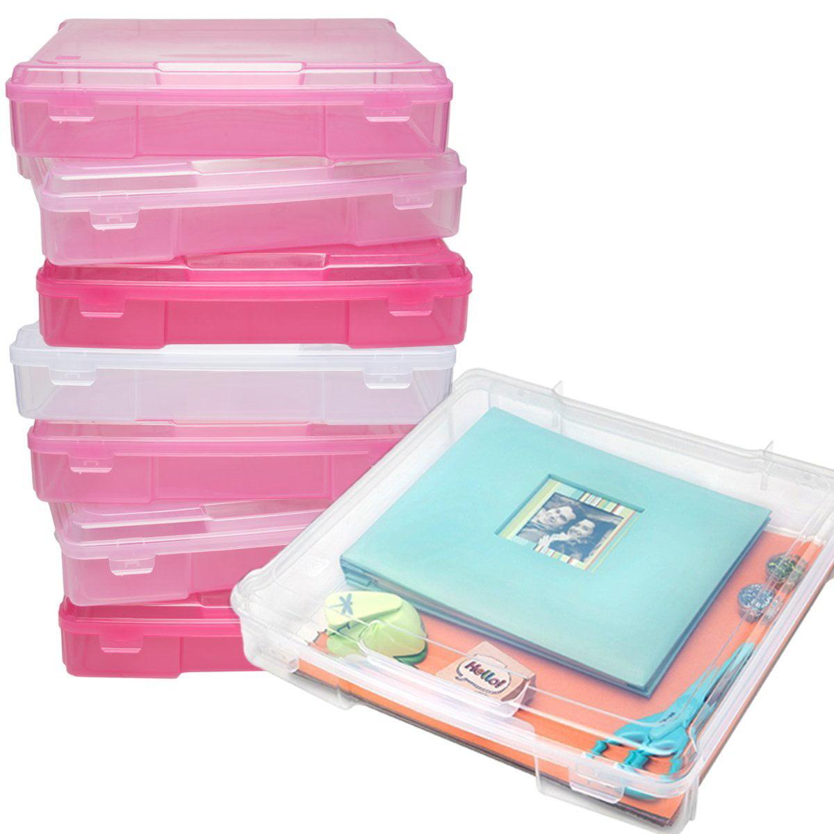 Iris 8 Pack Portable Scrapbooking Cases 12x12 Paper Supplies Storage