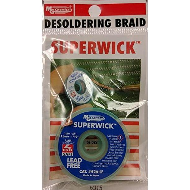 Mg Chemicals Desoldering Braid 4 Fine Braid Super Wick For Lead Free Solder 010 Width X 5 Length Walmart Com Walmart Com