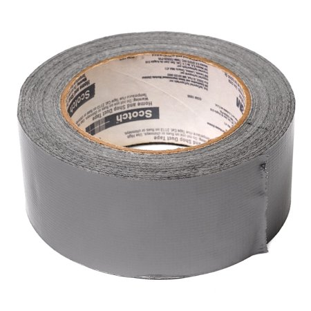 LAMINATED POSTER Gray Adhesive Silver Repair Tape Duct Tape Sticky Poster Print 24 x