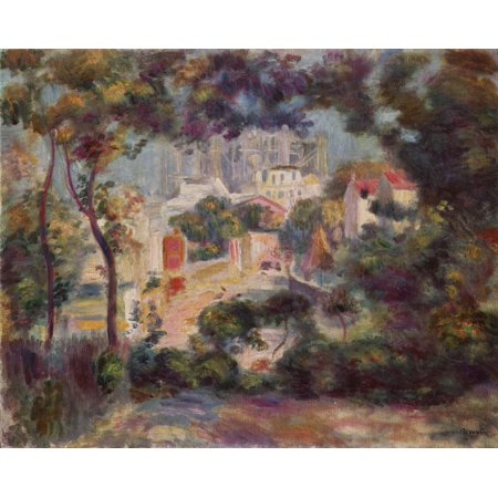 Framed Art for Your Wall Renoir, Pierre -Auguste - Landscape With View Of Sacré -Coeur 10 x 13 Frame