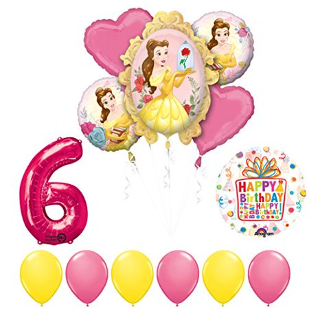 Beauty and The Beast 6th Birthday Party Balloon supplies decorations - Beauty And The Beast Birthday Party Decorations